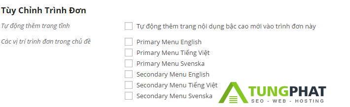 điều chỉnh Plugin PolyLang menu