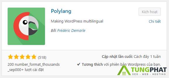 Hướng dẫn sử dụng Plugin PolyLang