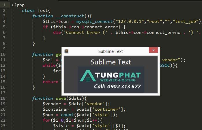 Sử dụng phím tắt trong sublime text 3