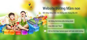 Thiết kế website trường mầm non Hoa Hướng Dương P.12 Quận Tân Bình