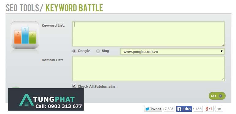 kiểm tra thứ hạng từ khóa keyword-competition-checker