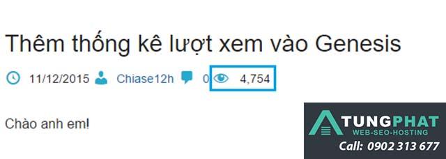 code đếm lượt xem wordpress