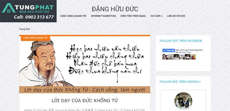 thiết kế website giới thiệu thông tin cá nhân