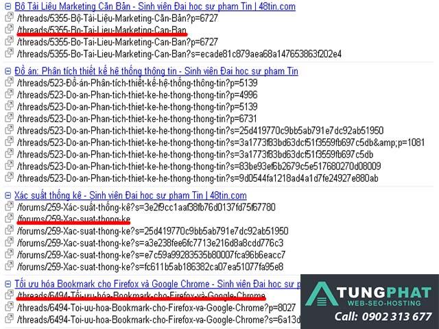 thông báo trùng lặp thẻ tiêu đề trong webmaster tool
