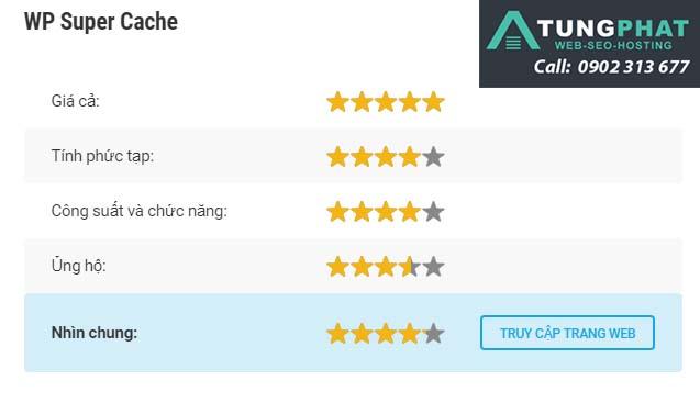 đánh giá plugin wp super cache
