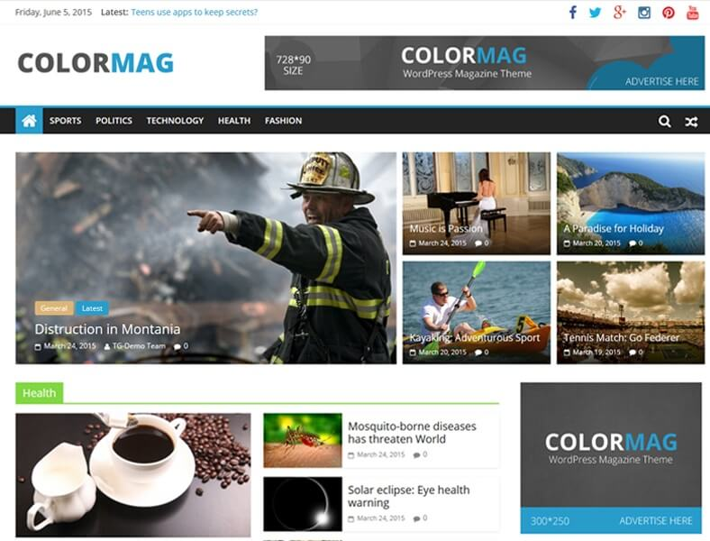 Theme WordPress Tin Tức ColorMag