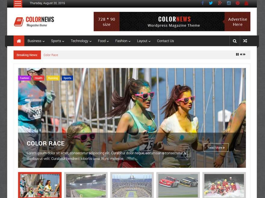 Theme WordPress Tin Tức ColorNews