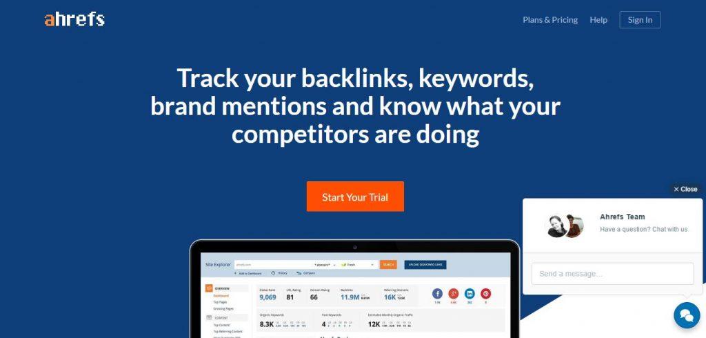 kiểm tra backlink ahref