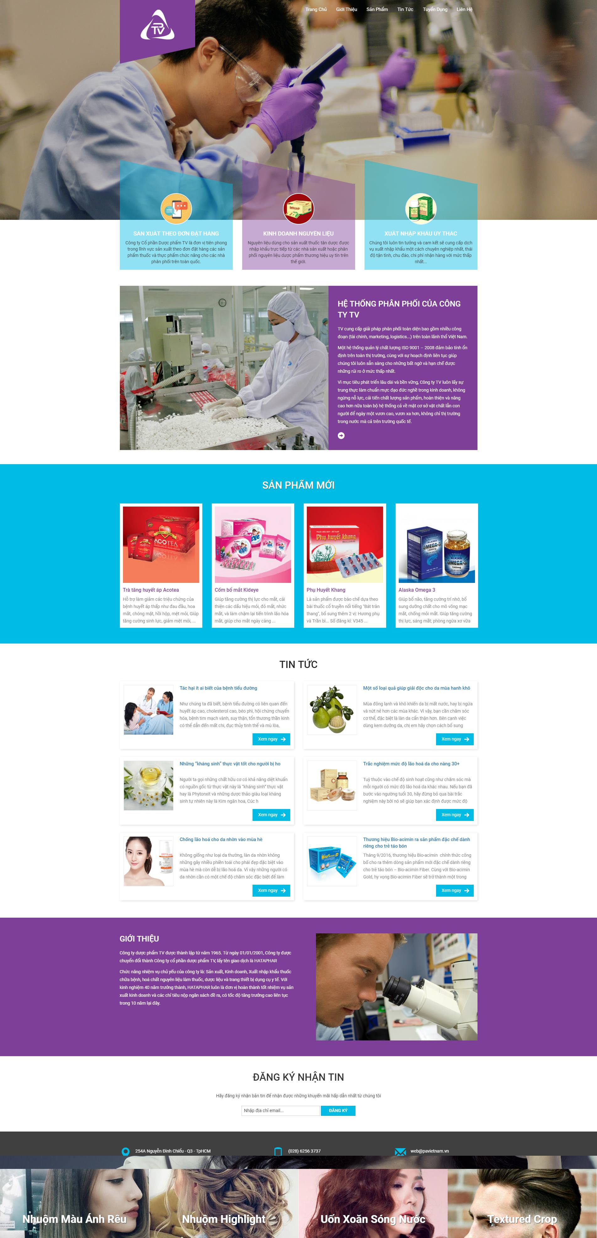 mẫu website công ty dược