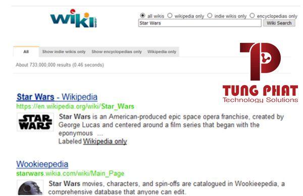 Công cụ tìm kiếm wiki