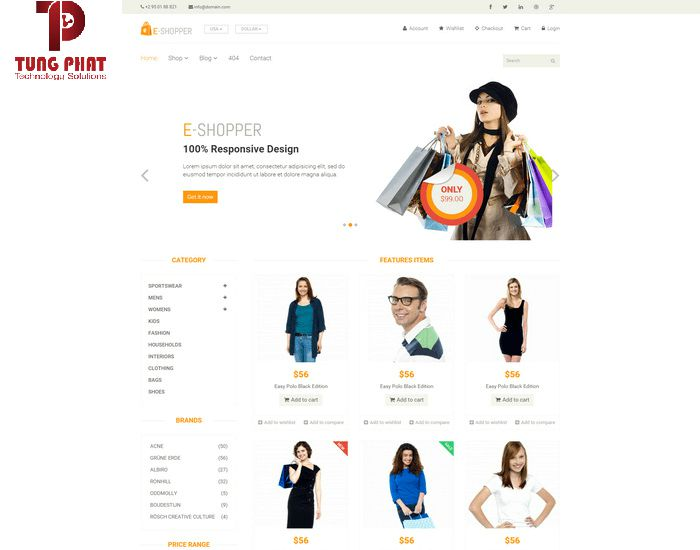 Mẫu template E-Shopper
