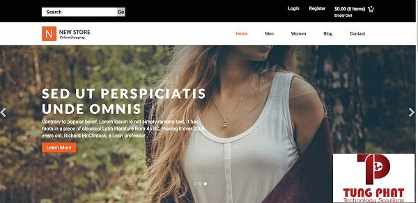Template website Newstore
