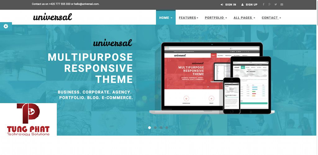 Template website Universal