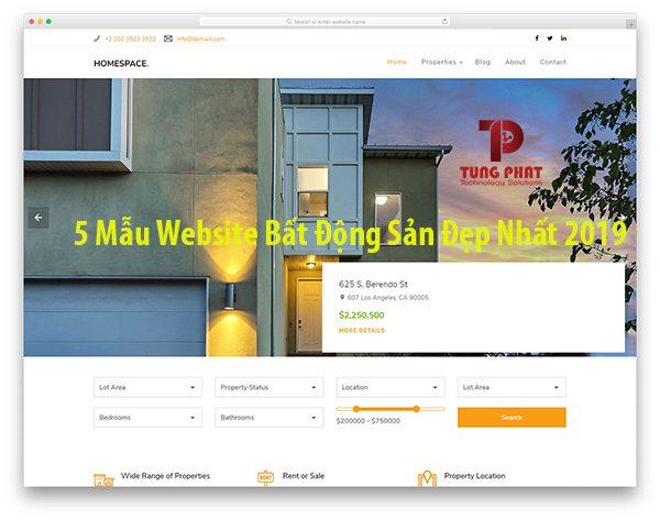 Top 5 mẫu website bất động sản miễn phí đẹp nhất 2019