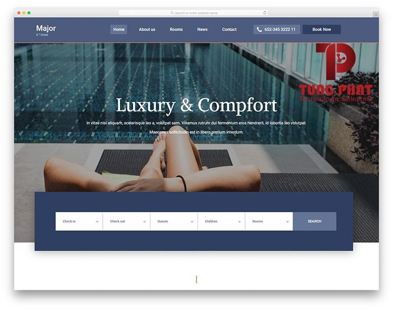 Mẫu website du lịch Major