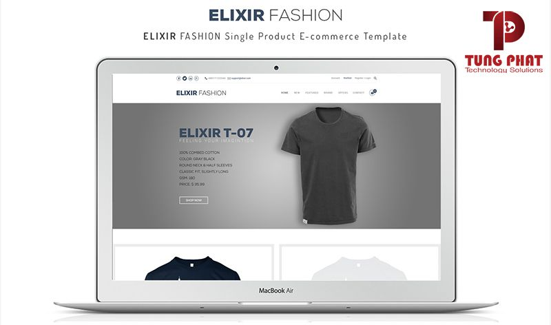 Mẫu website thời trang Elixi Fashion