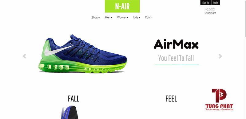 Mẫu website cho ngành thời trang N-Air