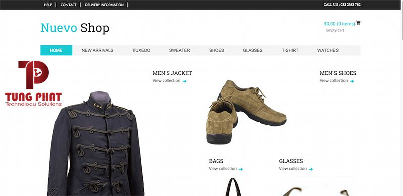 Mẫu website thời trang Nuevo