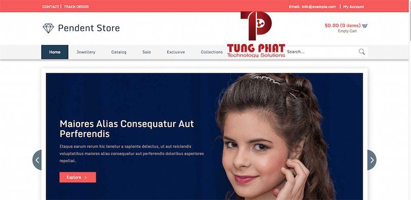 Mẫu website bán hàng thời trang Pendent Store