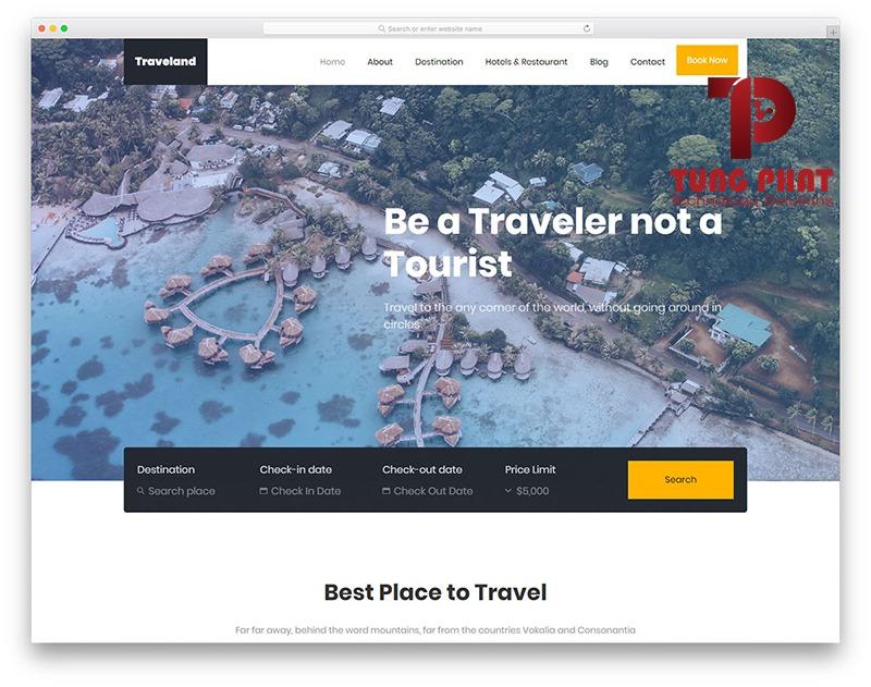Website du lịch Traveland