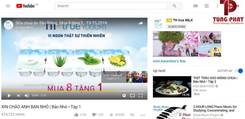 quảng cáo hiển thị trong video