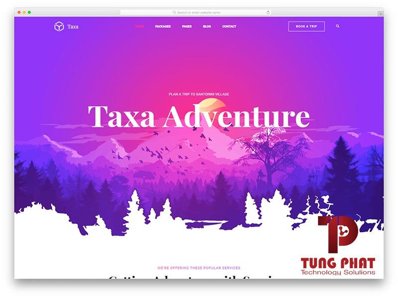 Mẫu web du lịch miễn phí Taxa