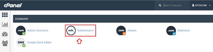 Tìm chọn sub domain