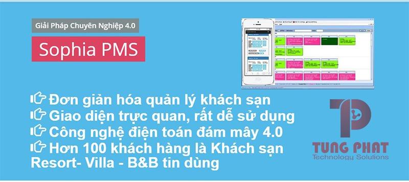 phần mềm quản lý khách sạn sophia PMS