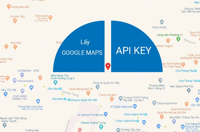Lấy API key google map