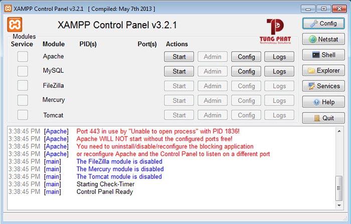 xampp panel