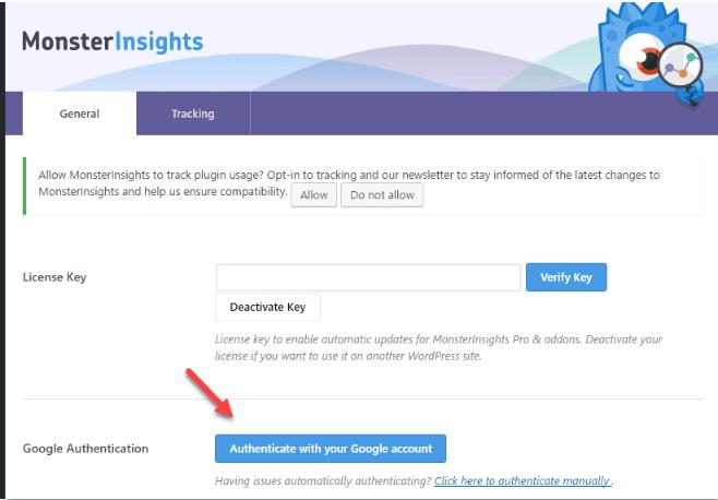 Chèn google analytics vào website bằng plugin Monsterinsights