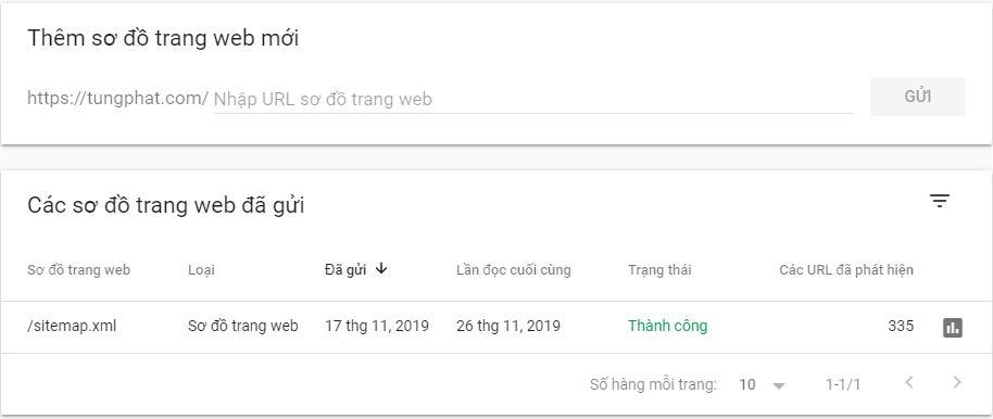 Submit google xml sitemap trên web master tool