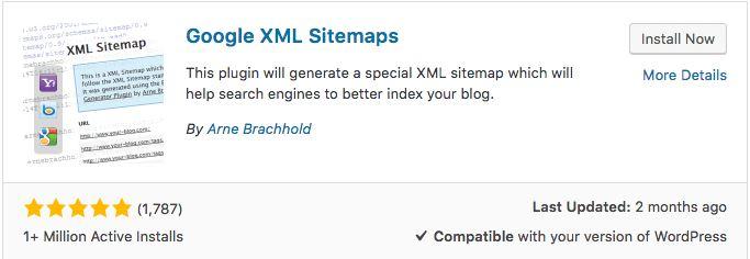 Tạo sitemap cho website wordpress bằng google XML sitemap