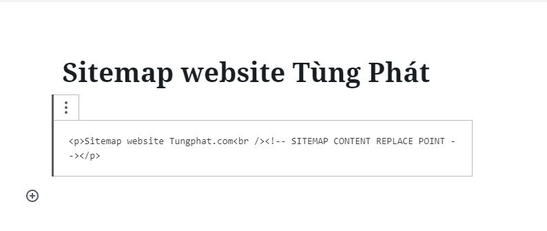 Tạo sitemap HTML