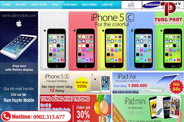 thiết kế website bán điện thoại