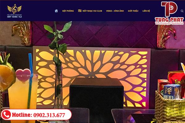 dịch vụ thiết kế website quán karaoke