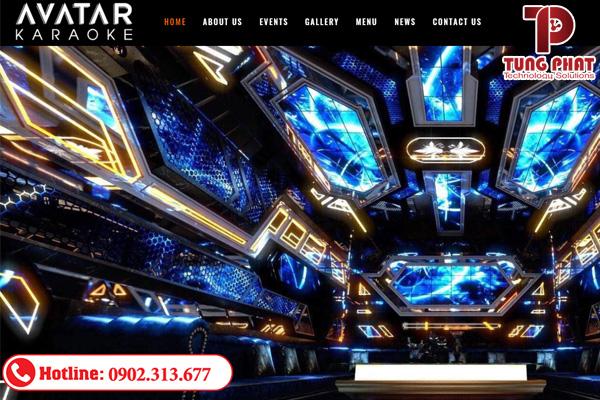 công ty thiết kế website quán karaoke