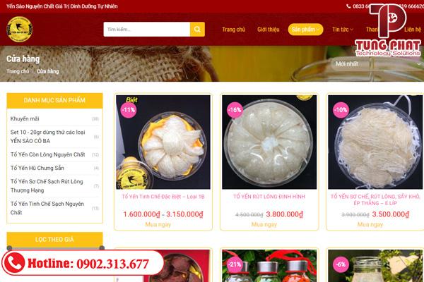tăng doanh số với website yến sào chuẩn seo