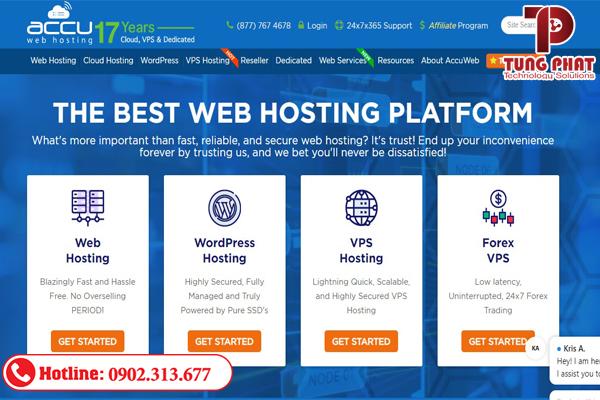 Nhà cung cấp dịch vụ hosting miễn phí Accuwebhosting