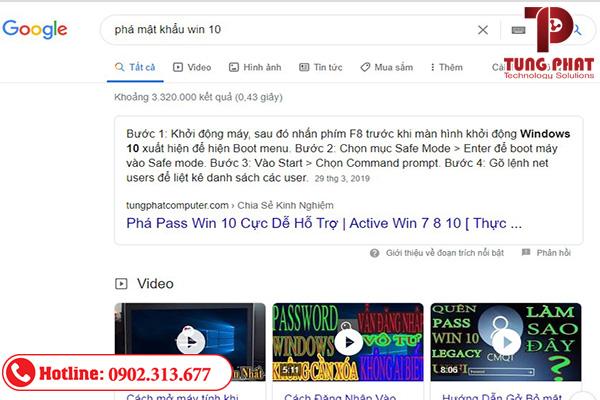 google xếp hạng một đoạn văn từ một trang web