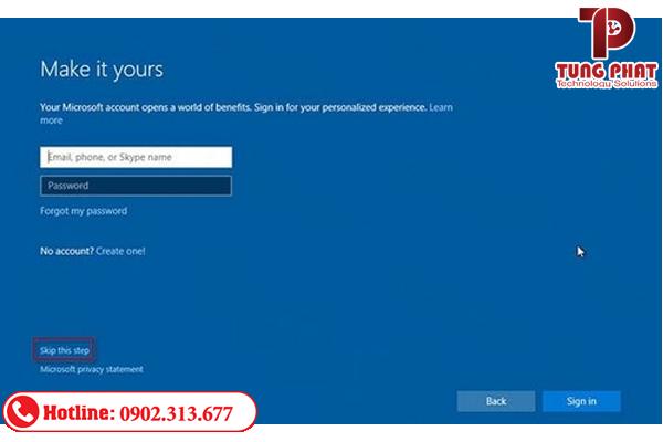 nhập tài khoản password