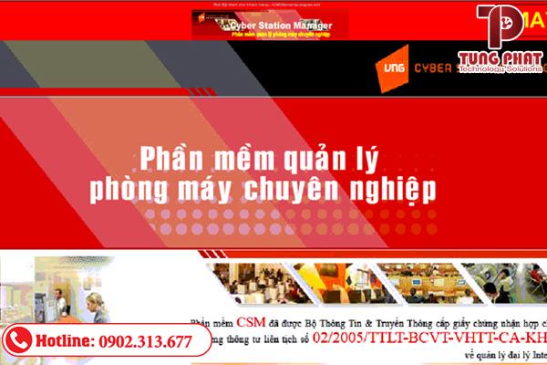 Phần mềm quản lý quán net CSM (Cyber Station Manager)