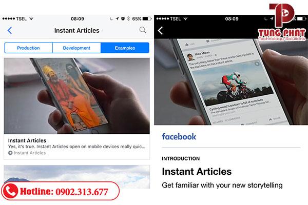 xem trước facebook instant arcticles