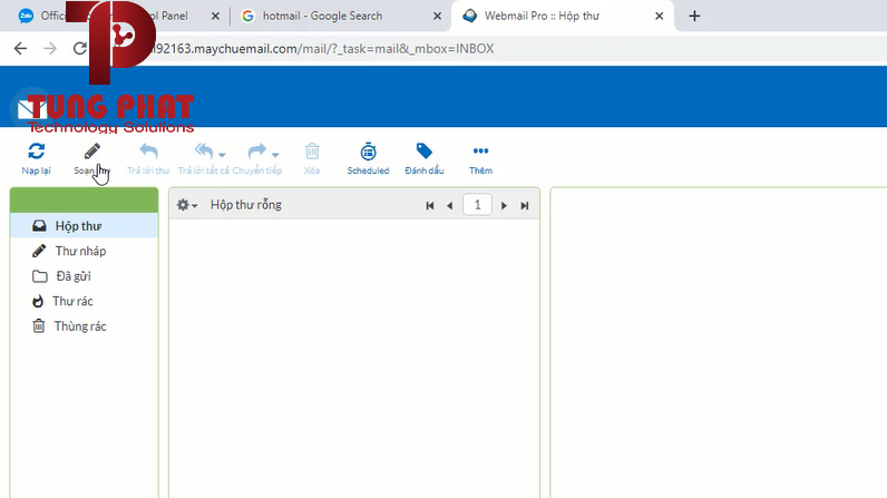 Nhấn vào soạn thư để tạo email mới
